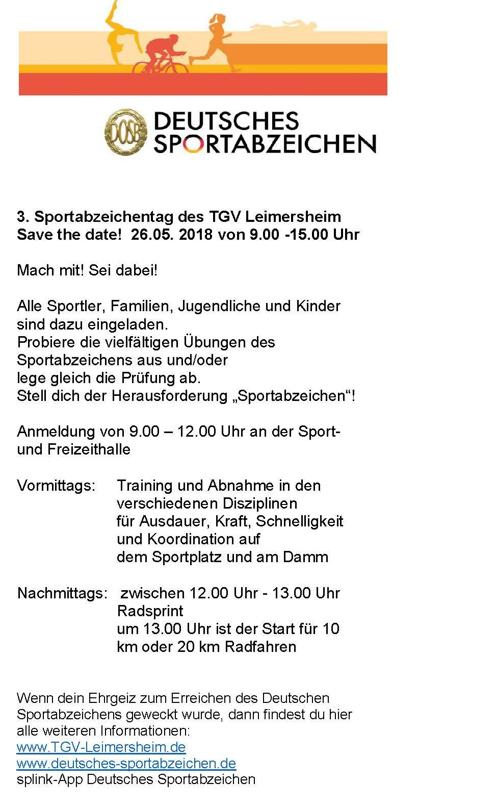 SportabzeichenTag 2018 Vorlage Flyer